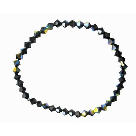 AB Jet Crystals Stretchable Bracelet Bracelet