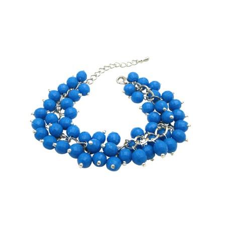 Dark Blue Bracelet Smashing Beads Bracelet