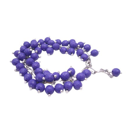 Dark Purple Multi Tiny Beads Bracelet Fancy Fashionable Bracelet