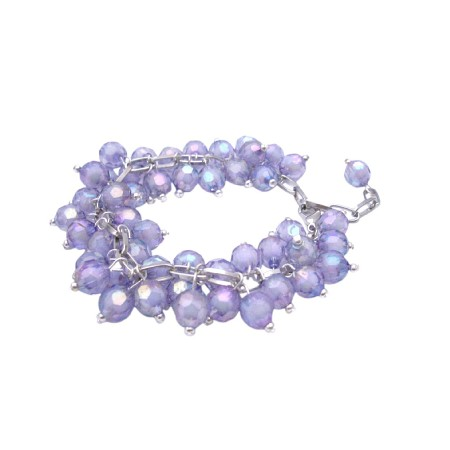 Violet Multi Beads Bracelet Affordable Cat Eye Violet Bead Bracelet