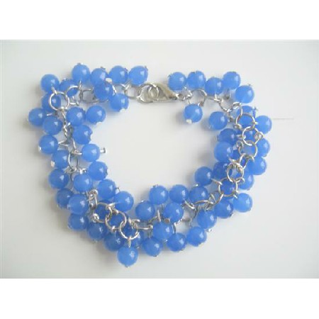blue beaded jewelry blue bracelet trendy bracelet