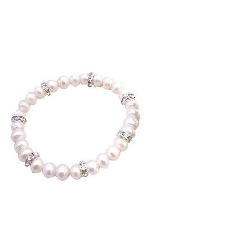 Flower Girl Jewelry Freshwater Pearls Potato Shaped Pearls Bracelet