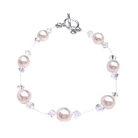 Ivory Pearls Clear Crystals Bracelet Under $10 Jewelry
