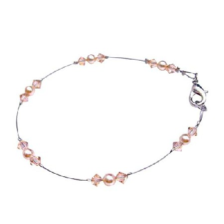 Exclusively Wedding Bridal Bridesmaid Inexpensive Peach Dress Bracelet