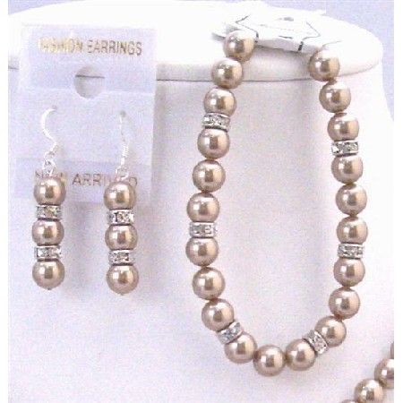 Inexpensive Jewelry Bronze Pearl Exclusively Bridal Bracelet
