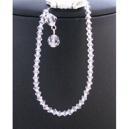 Inexpensive Clear Crystals Bracelet Gift Jewelry