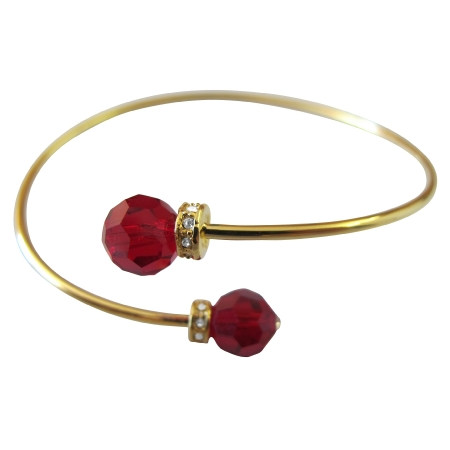 Prom Jewelry Fashionable Inexpensive Red Crystals Jewelry
