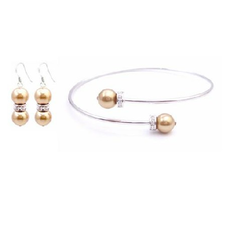 Golden Pearls Delicate Customize Wedding Affordable Earrings Jewelry