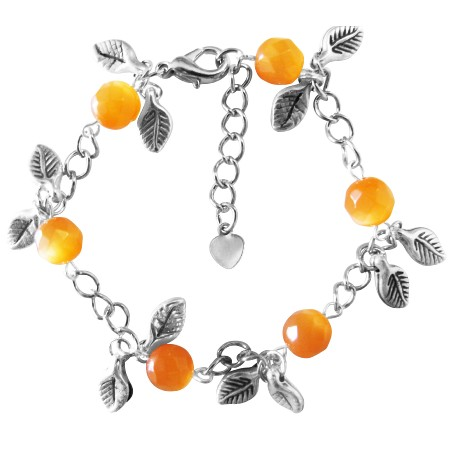 Sexy Bracelet Prom Jewelry Wedding Gift Orange Cat Faceted Bracelet