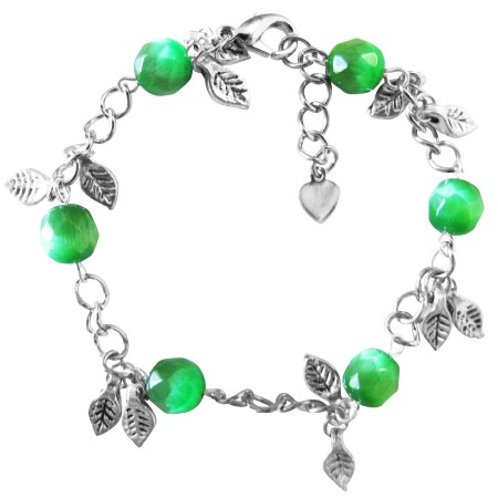 Jade Stone Bracelet Faceted Jade Cat Eye Bracelet Dangling Bracelet