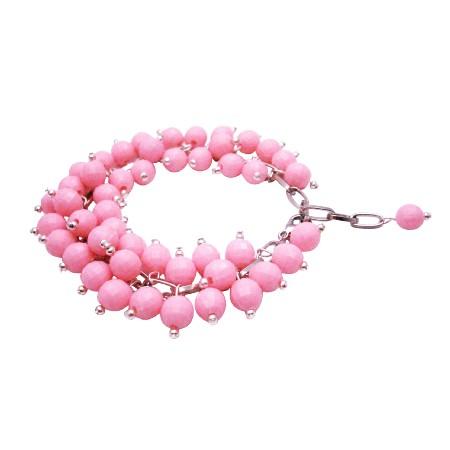Very Delicate Elegant Soothing Color Rose Petal Beads Bracelet