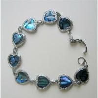 Heart Abalone Shell Bracelet Valentine Jewely Bracelet from fashionjewelryforeveryone.com