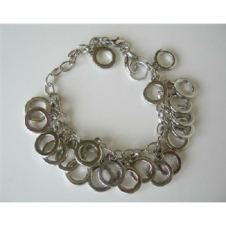 Multi Rings Silver Plated Rhodium Rings Sexy! Bracelet