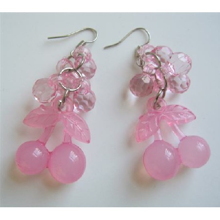 Beautiful Gorgeous Pink Beads Earrings Very Soft & Dainty Jewelry