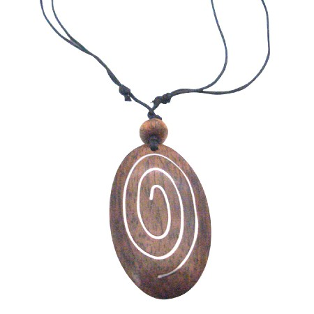 Vintage Stylish Affordable Inexpensive Ethnic Wooden Pendant Necklace