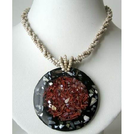 Shell Necklace w/ Shell Pendant Jewelry