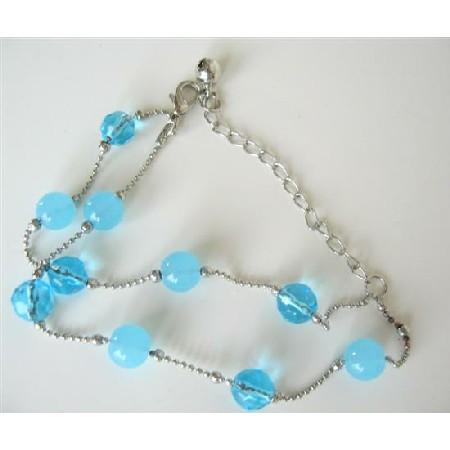 Double Stranded Simulated Glass Beads Bracelet Summerish Bracelet Gift