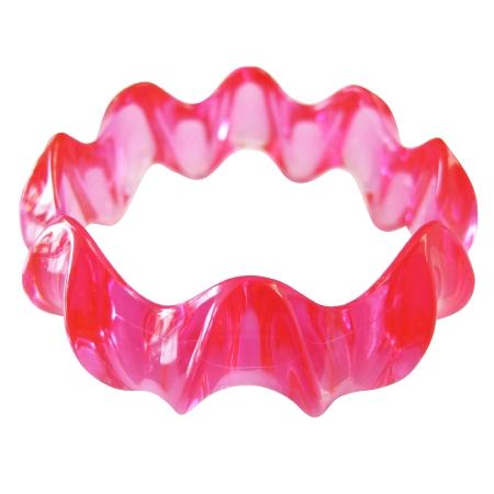 Pink Fashionable Bangle Bracelet Acrylic Fancy Stylish Pink Bangle