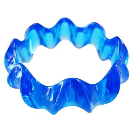 Acrylic Sleek Dainty Blue Bangle Under 5 Dollar Blue Bangle Bracelet