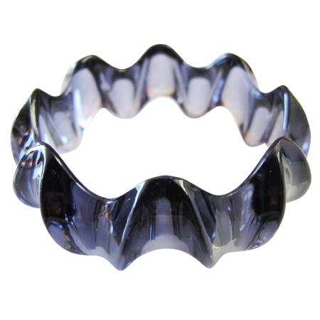 Black Smashing Trendy Bracelet Acrylic Black Long Lasting Black Bangle