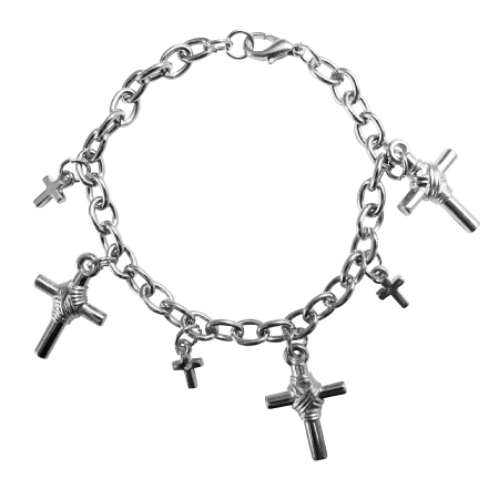 Cross Charm Bracelet Chained Stylish Gift Bracelet Christmas Jewelry
