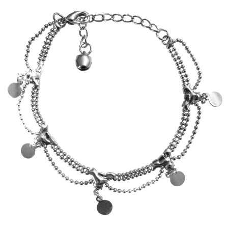 Three Stranded Joined Bracelet Cubic Zircon Diamante Christmas Gift