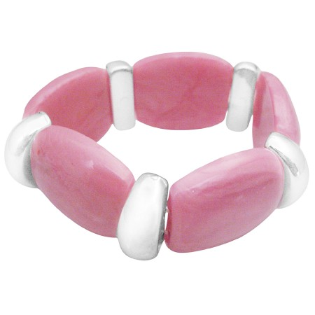 Fashionable Chic Pink Stretchable Bracelet High School Girls Jewelry
