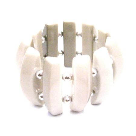 Lucky Beige Bracelet Summer Classic Bracelet Beige Bead w/ Silver Ball