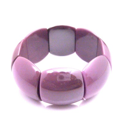 Purple Beads Stretchable Bracelet Girls Fun Wearing Summer Jewelry
