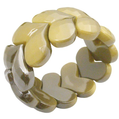 Fashion Affordable Summerish Yellow Stretchable Bracelet Fancy Wear