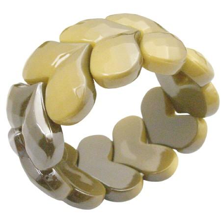 Fashion Affordable Summerish Yellow Stretchable Bracelet Fancy Wear