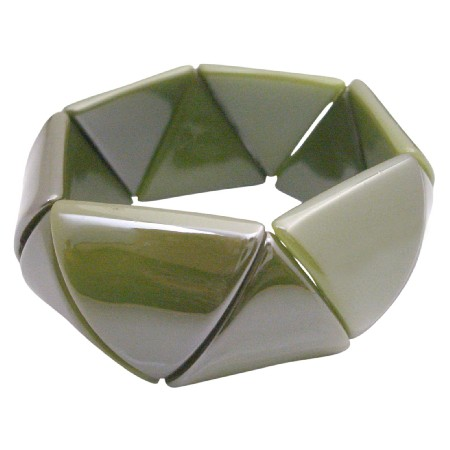 Bracelet Geomatric Bracelet Triangle Bead Stretchable Bracelet