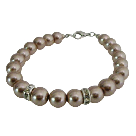 Fashion Wedding Classy Champagne Pearls Bracelets Very Economical