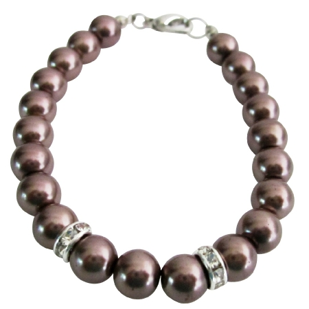 Shop For Burgundy Jewelry Bracelet 8mm Burgundy Pearls & Rondelles