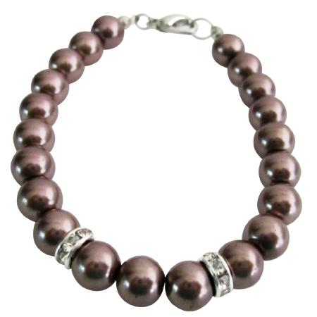 Shop For Burgundy Jewelry Bracelet 8mm Burgundy Pearls & Rondelles