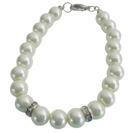 Flower Girl Wedding Jewelry Superb Price Ivory Color Pearls Bracelet