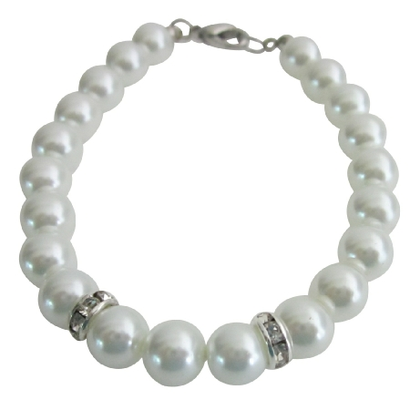 Latest & Unique Design White Pearls Bracelets Wedding Gift Jewelry