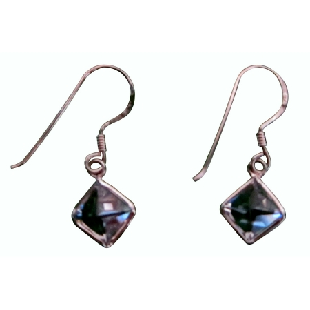 Diamond Shaped Cubic Zircon Simulated Diamond Earrings