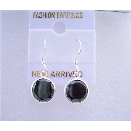 Sparkling Stud Earrings Sterling Silver 92.5 Black Stud Earrings
