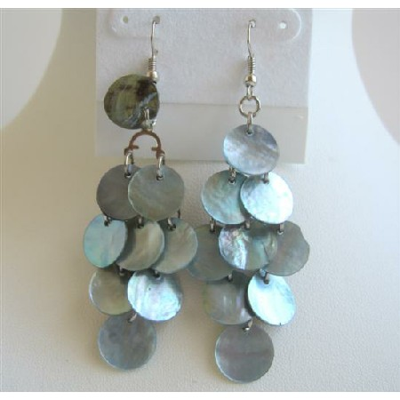 Blue Mop Shell Earrings