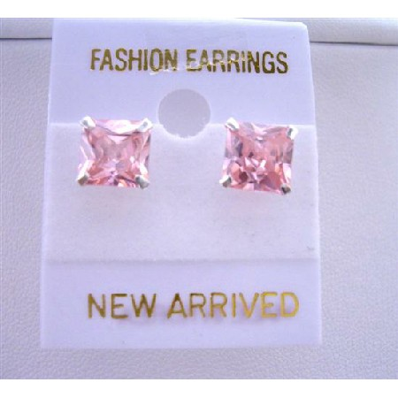Sterling Silver Post Rosaline Stud Earrings Prince Cut Stud Earrings