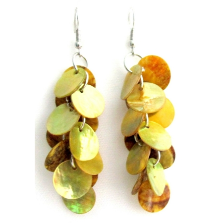 Lime Shell Chandelier Dangle Earrings Lime Mop Shell Dangle Earrings