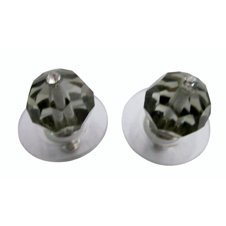 Black Diamond Inexpensive Under 5 Swarovski Stud Earrings