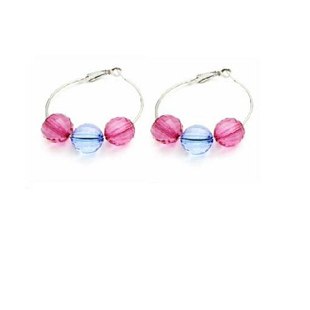 Gift Friend Jewelry Inexpensive Jewelry Glass Bead Hoop Earrings