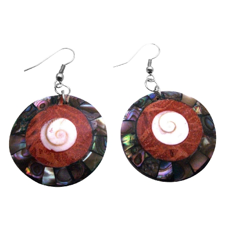 Abalone Round Iridescent Shell Jewelry In Unique Stunning Gift Designs