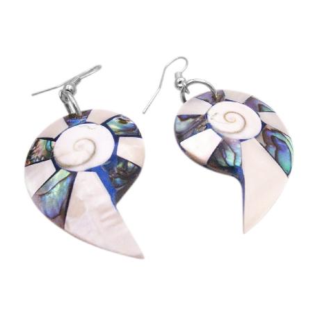 Mother Of Pearls Natural Shell Earrings Abalone Shiva Eye Earrings