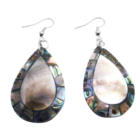 Shop Quality Jewelry In Natural Shell Abalone Teardrop Shell Earrings