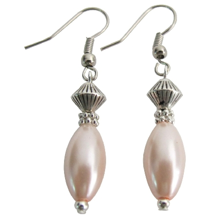 Unbeatable Price Bohemian Earrings Pink Oval Pearl Fabulous Earrings