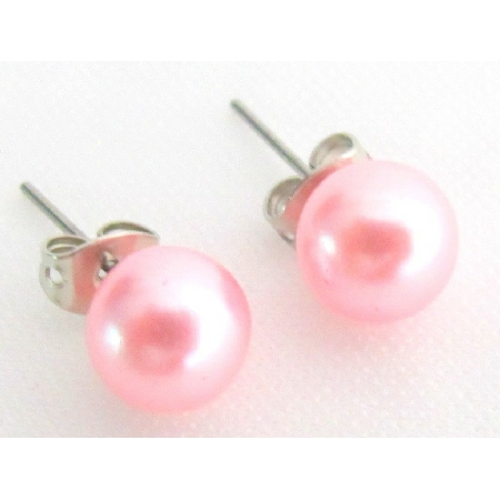 Wholesale Pearl Stud Earrings Pink Pearl Stud Earrings