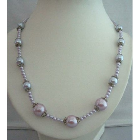 Long Stunning Simulted Pearls Necklace 20 inches